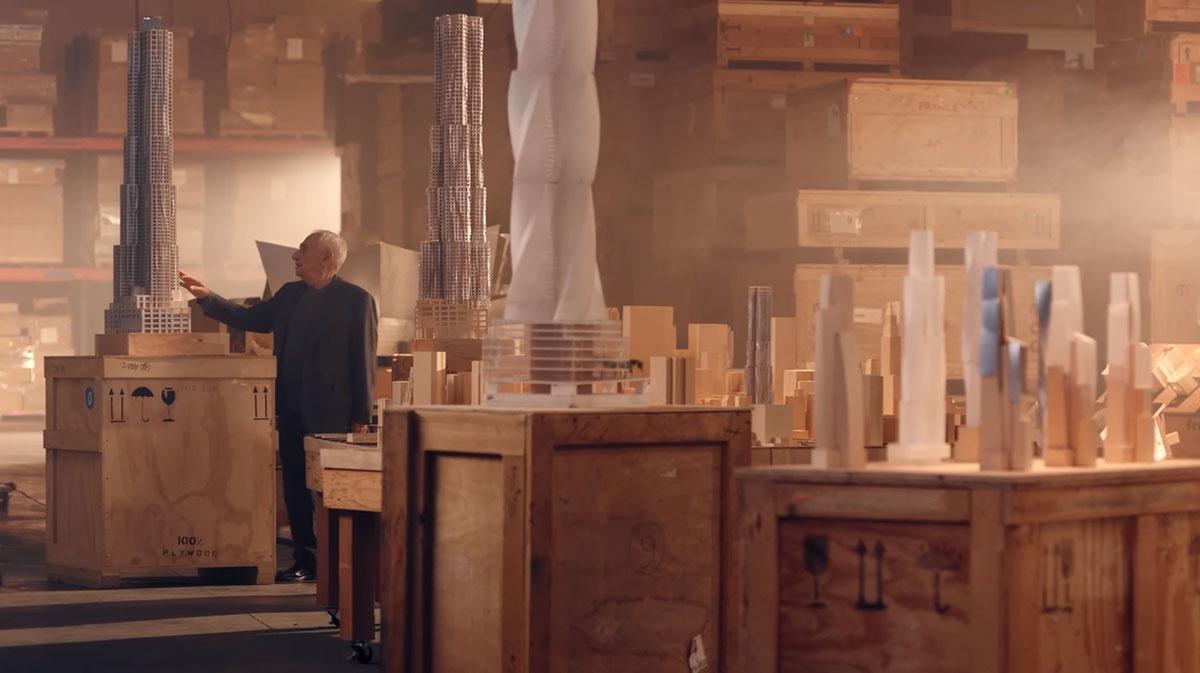 فرانک گری در مشغول برگزاری دوره های بزرگ معماری