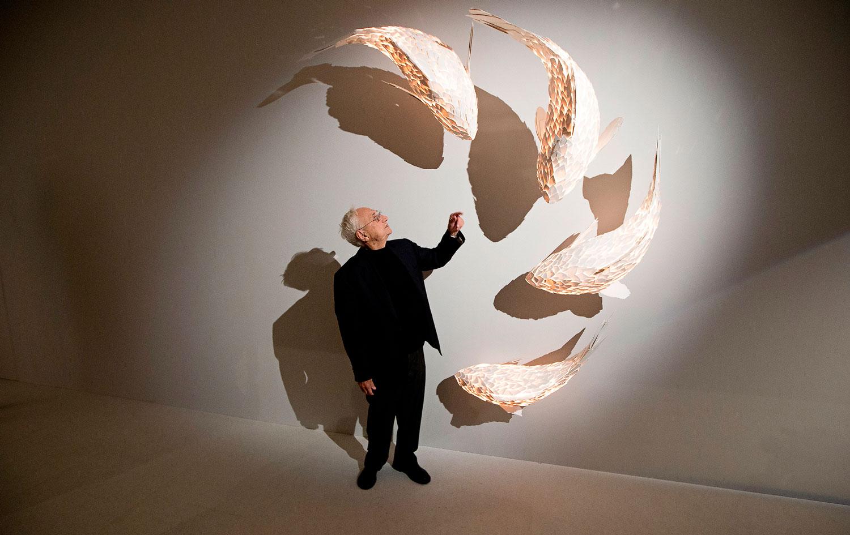 فرانک گری معمار کانادایی در حال برگزاری دوره معماری