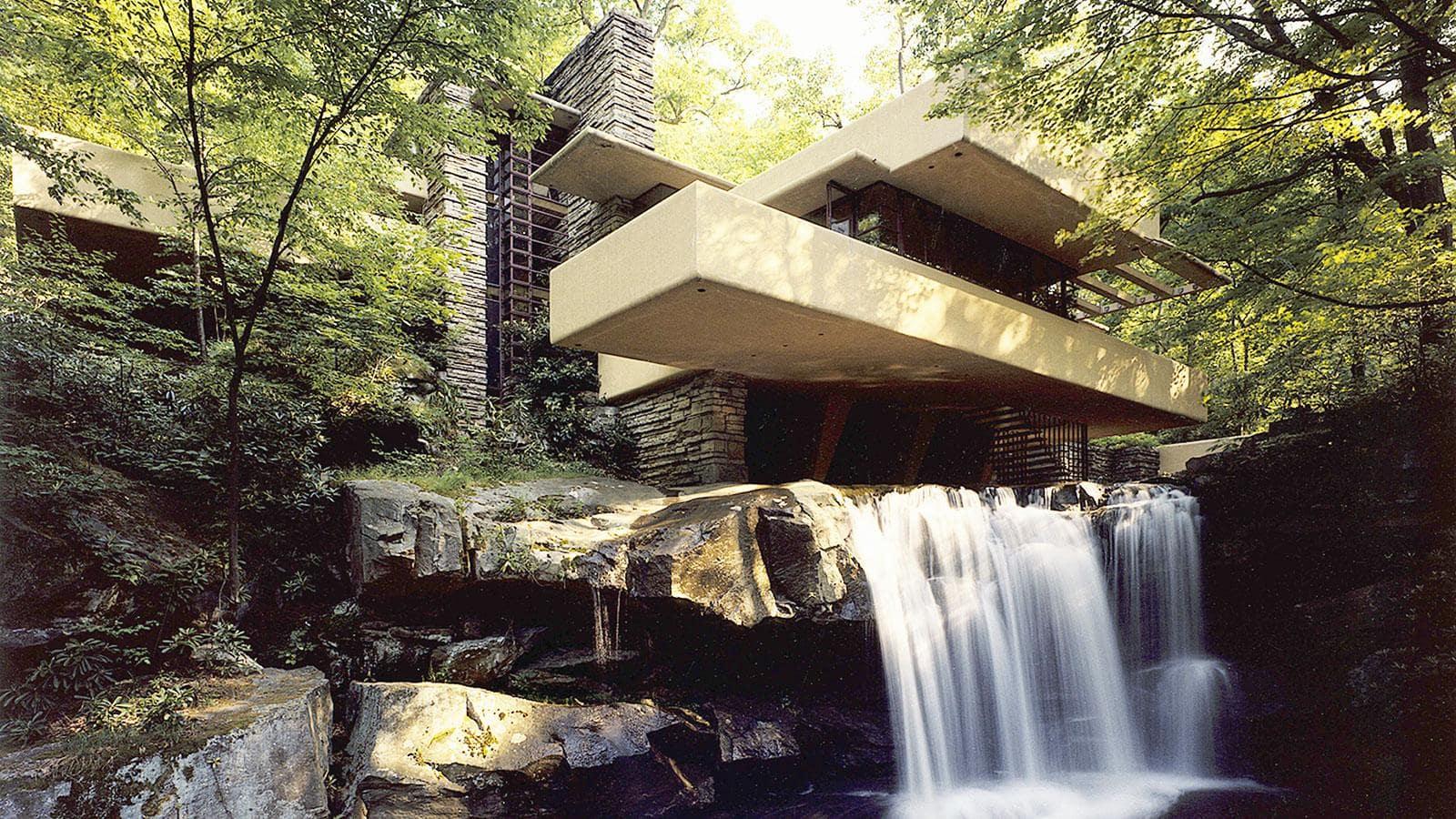 طراحی شده توسط فرانک لوید رایت با معماری مدرن