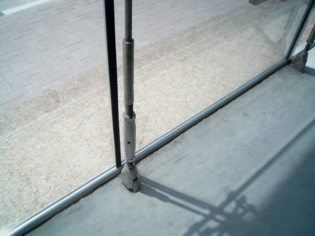 نمای شیشه ای کابلی