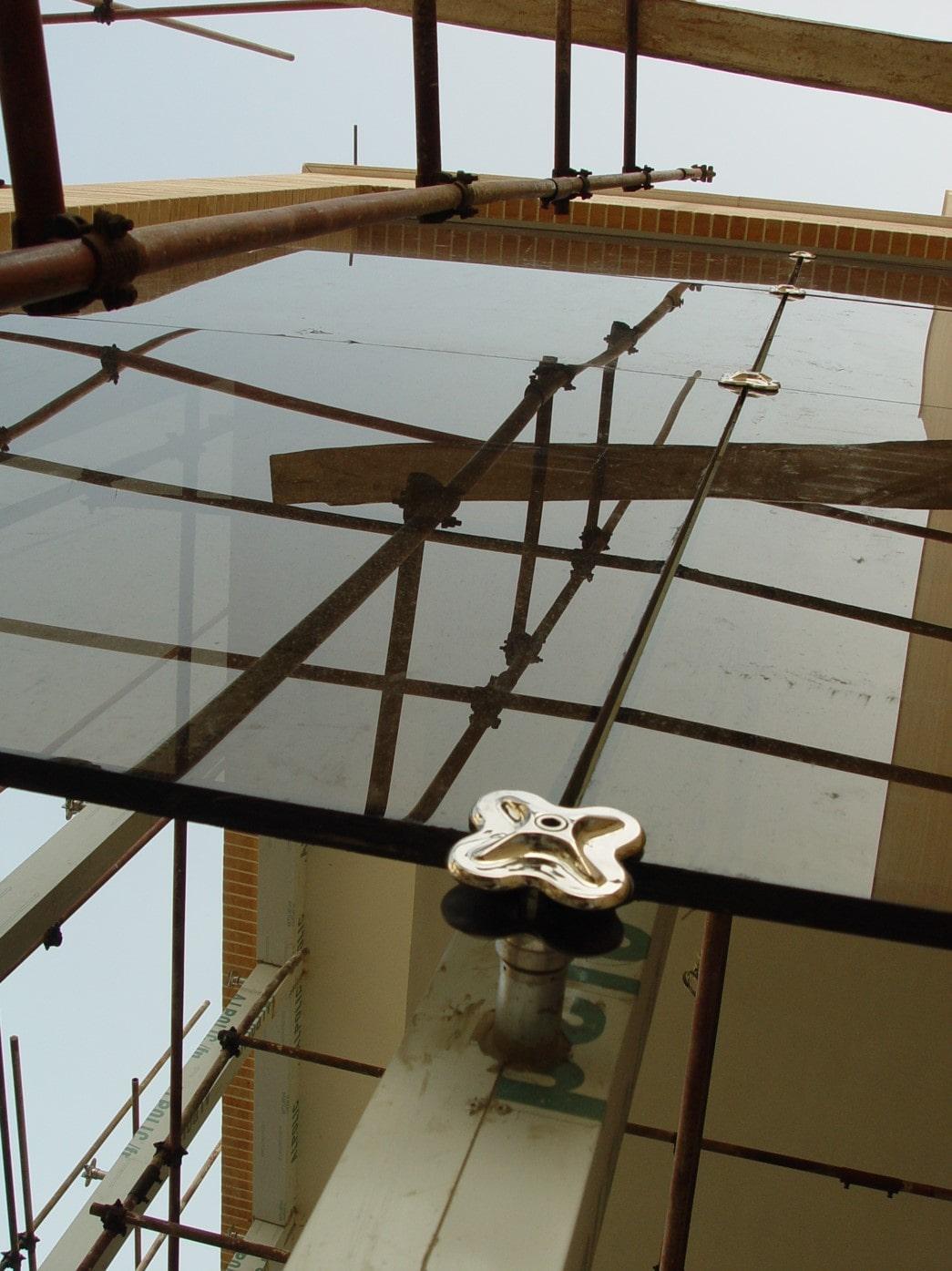 هتل معین مشهد اجرای نمای شیشه ای