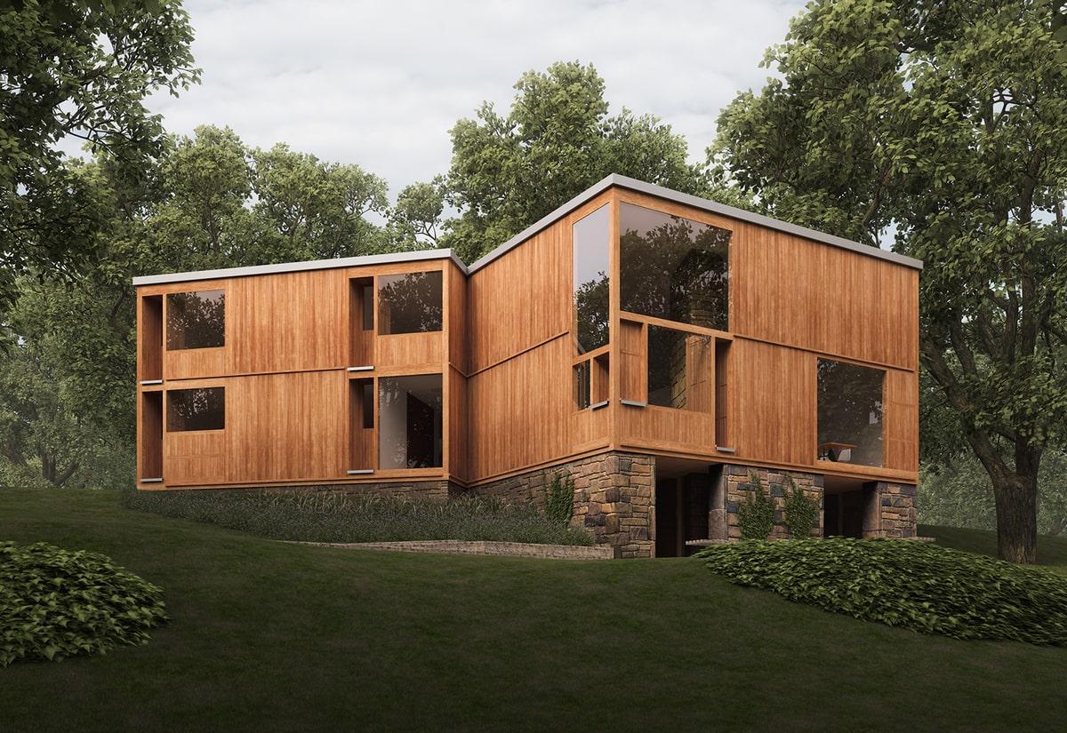 تجریبات معماری مدرن در اثار لویی کان