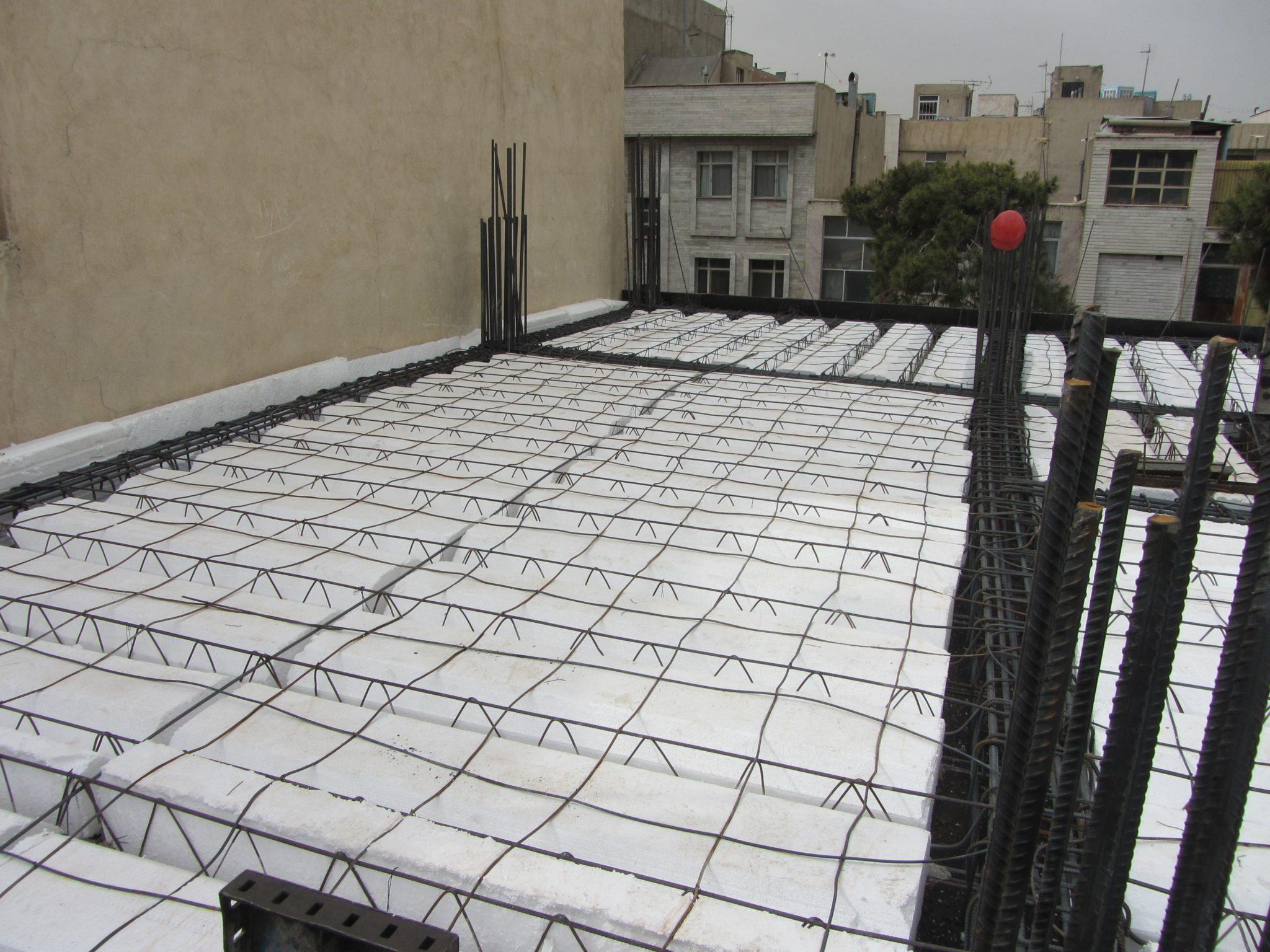 ساختار در سقف تیرچه یونولیت ostovarsazan.com