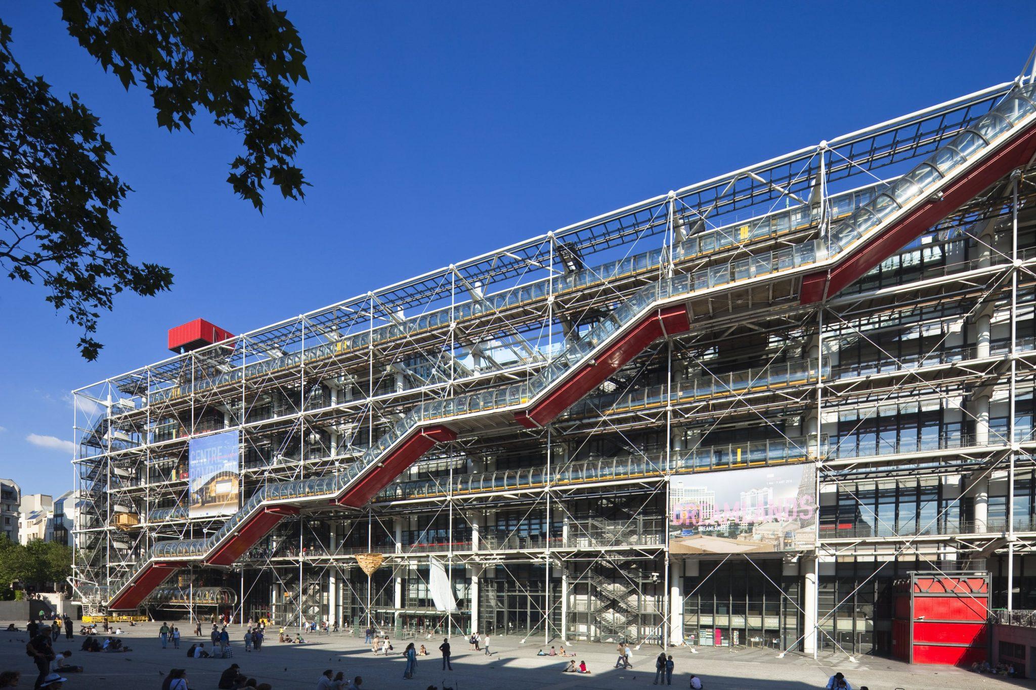 ژرژ پمپیدو پرژه مشترک ریچارد راجرز برنده جایزه معماری AIA