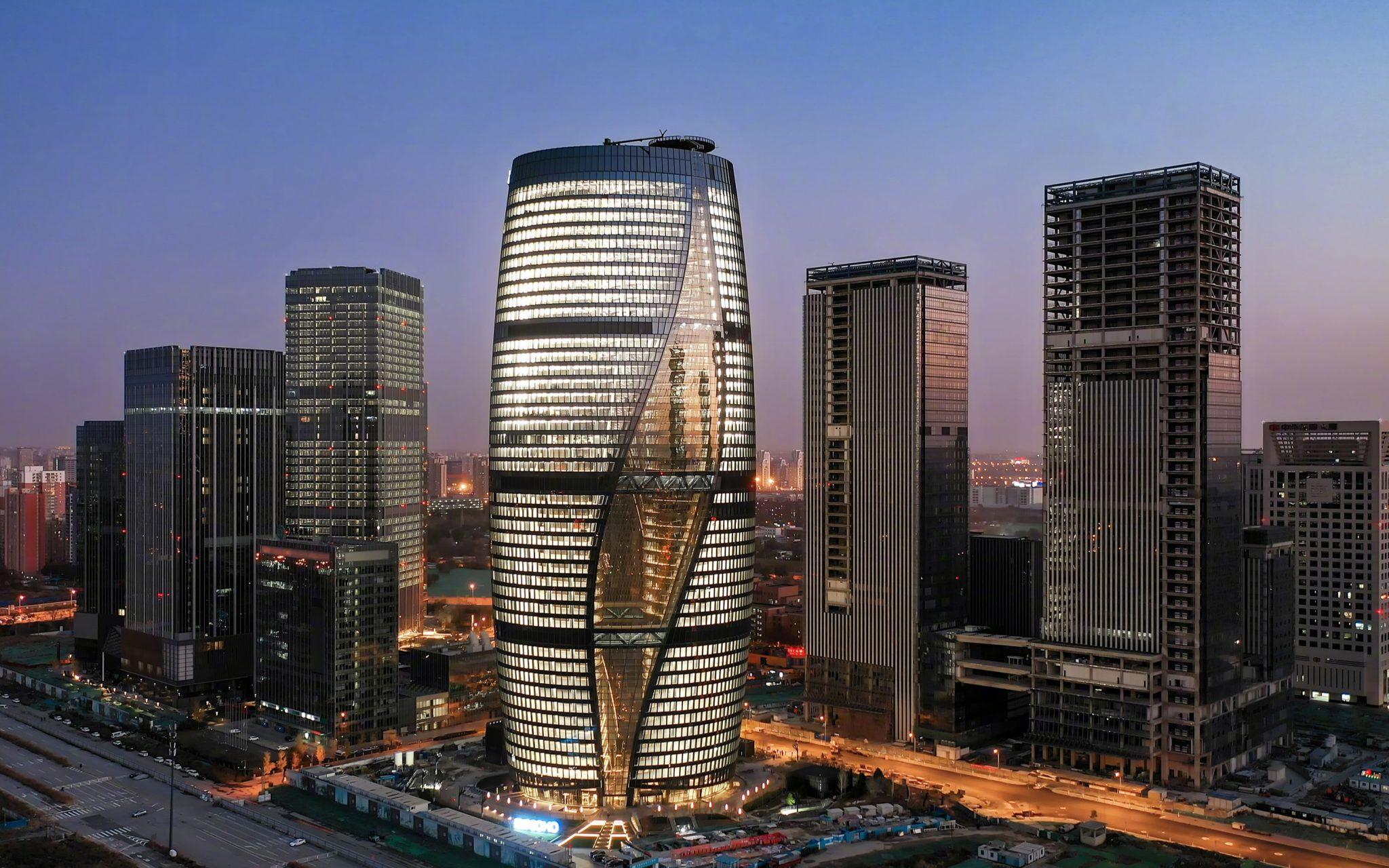 زیباترین ساختمان برج چین