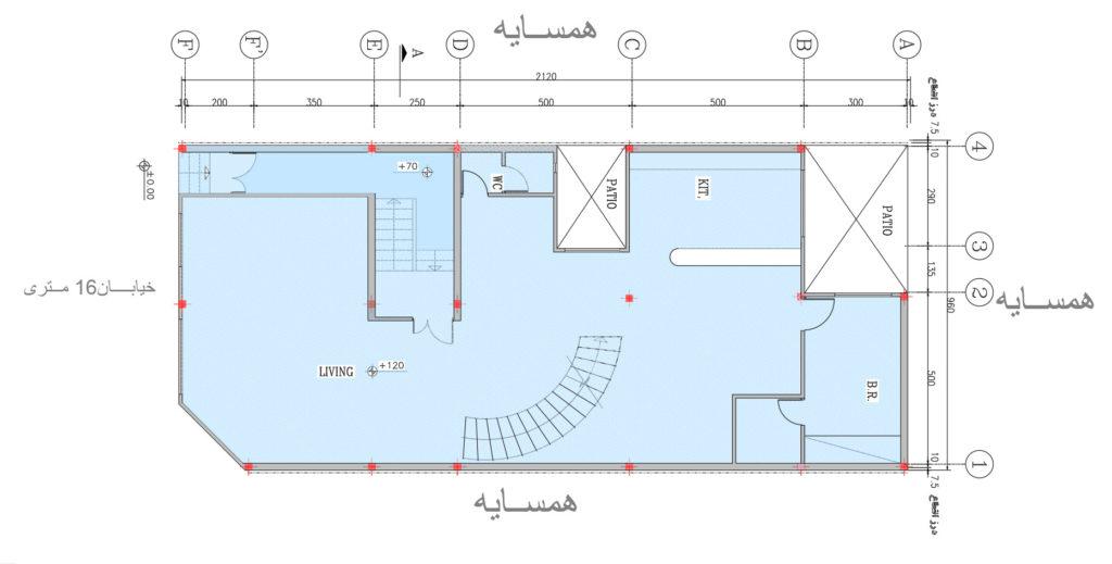 بررسی ستونگذاری پلانهای معماری