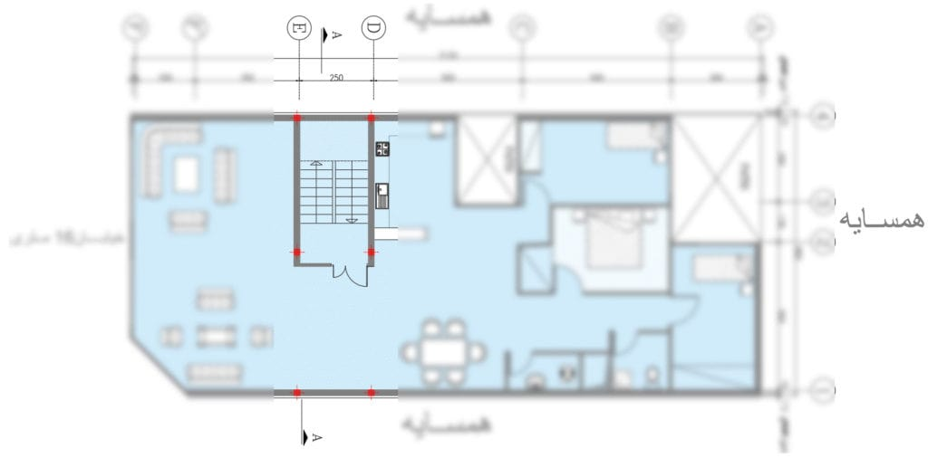 ضوابط لازمه ستونگذاری پلانهای معماری