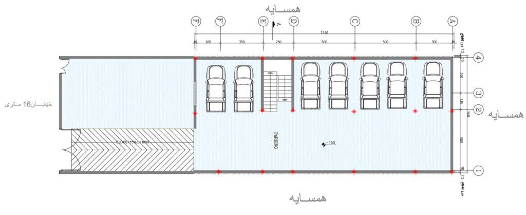 چک کردن ستونگذاری پلانهای معماری