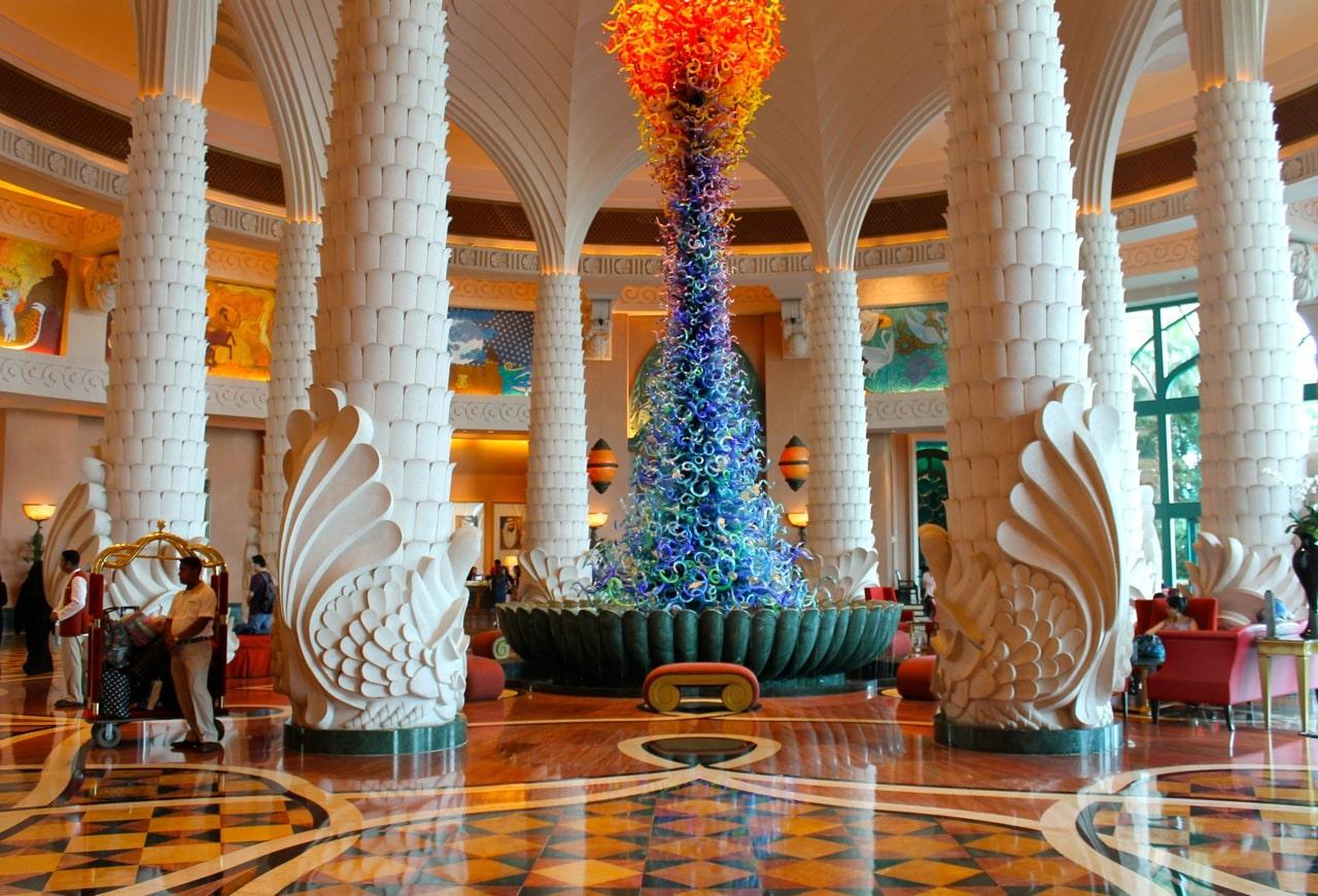 لابی زیبای هتل آتلانتیس