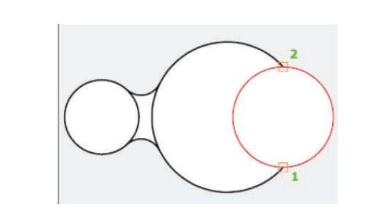 آموزش دستور circle با روش دو نقطه - استوارسازان