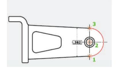 روش چهارم جهت ترسیم دستور Arc استوارسازان