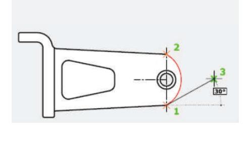 روش ششم جهت ترسیم دستور Arc استوارسازان