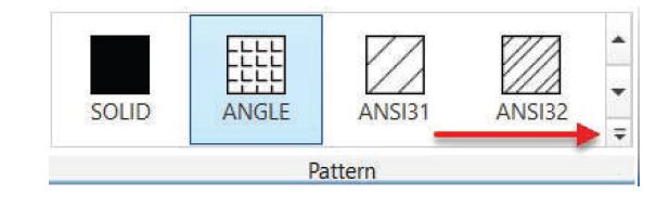 پانل pattern در اضافه کردن هاشور به اتوکد استوارسازان