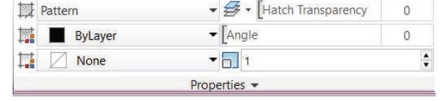 پانل properties در اضافه کردن هاشور به اتوکد استوارسازان
