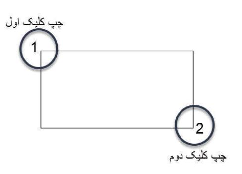 ترسیم دستی دستور Rectangle - آموزش دستور Rectangle - استوارسازان