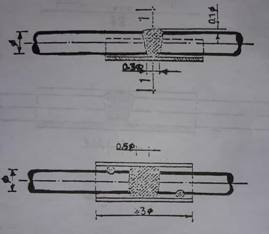 اتصال دو میلگرد در روش جوشی نوک به نوک با استفاده از پشتبند - وصله آرماتورها - استوارسازان