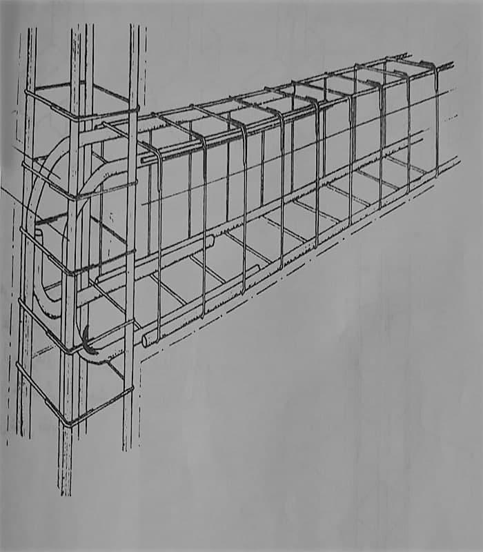 میلگرد های شناژ قائم و شناژ افقی - شناژ قائم در ساختمان - استوارسازان