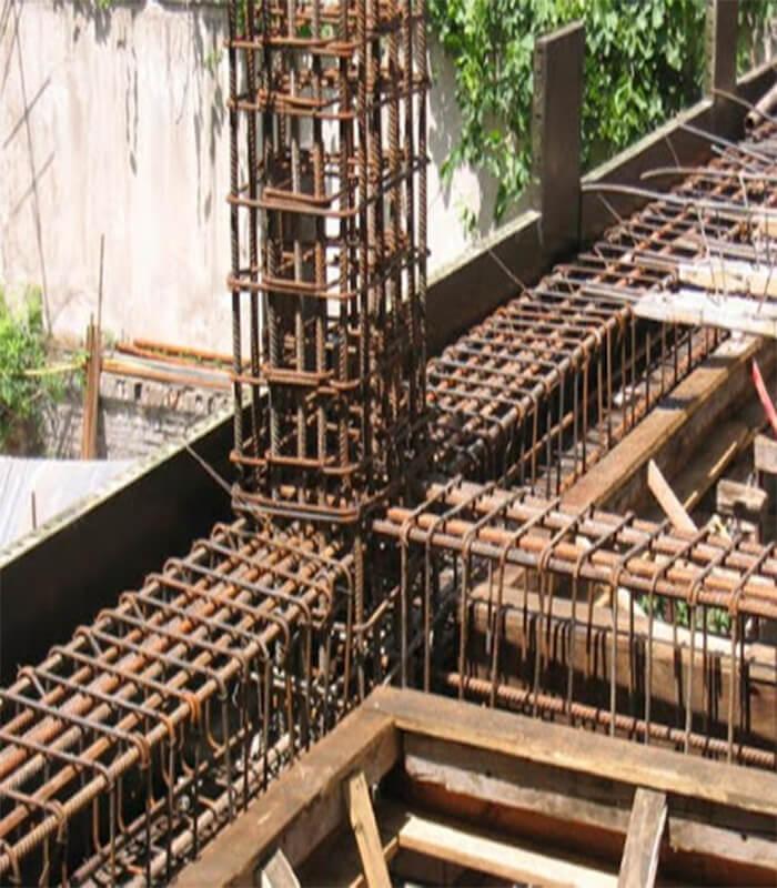 اتصال آرماتورهای تیر اصلی به ستون - طراحی تیر بتن آرمه - استوارسازان