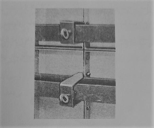 انواع قالب بندی بتن - اتصال پشت بندی قالب فلزی