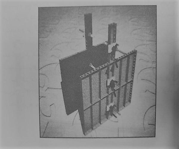 اجرای جزئیات اتصال میان بولت برپشتبندهای قوی فلزی - انواع قالب بندی بتن - استوارسازان