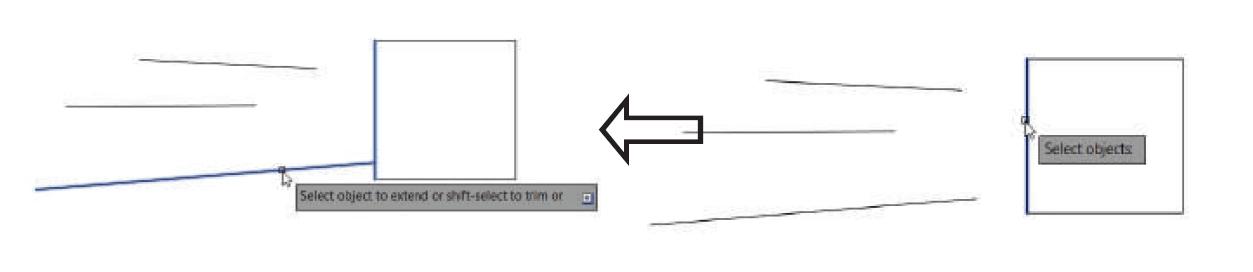 تعیین مرز در دستور extend استوارسازان