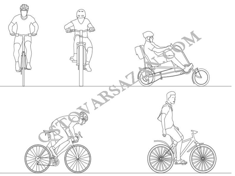 بلوک های دوچرخه سواری اتوکد