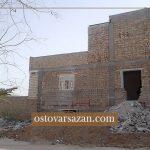 ساختمان مصالح بنایی کلاف دار
