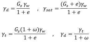 روابط ترکیبی وزن مخصوص ها در مکانیک خاک - فرمول های درس مکانیک خاک - استوارسازان
