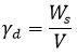 وزن مخصوص حالت خشک خاک - فرمول های درس مکانیک خاک - استوارسازان