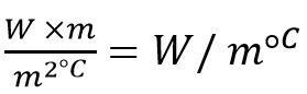 فرمول ضریب هدایت حرارتی مصالح - عایق حرارتی ساختمان - استوارسازان