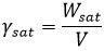 وزن مخصوص حالت اشباع خاک - فرمول های درس مکانیک خاک - استوارسازان