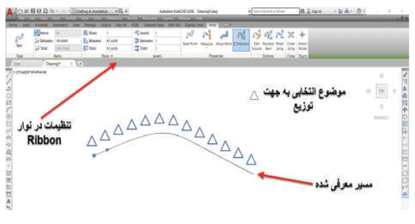 ایجاد ارایه بر روی یک مسیر در دستور array استوارسازان