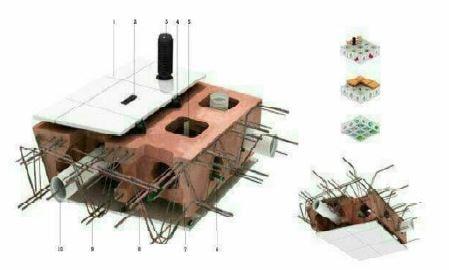 دال وافل بتنی - سقف هالودک - استوارسازان