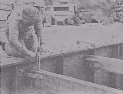 نمونه استقرار قالب بندی دال بر روی سازه فولادی - سقف سالید اسلب - استوارسازان