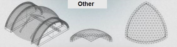معماری های خاص و سایر فرم ها در سقف های فضایی - استوارسازان