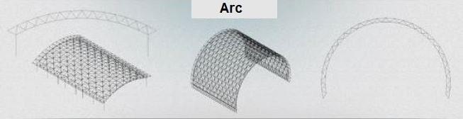 انواع فرم های معماری سازه فضاکار قوسدار - سقف های فضایی - استوارسازان