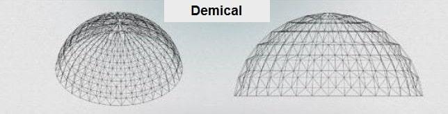 انواع فرم های معماری سازه فضاکار گنبدی - سقف های فضایی - استوارسازان