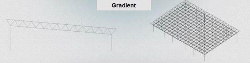 انواع فرم های معماری سازه فضاکار شیبدار - سقف های فضایی - استوارسازان