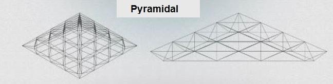 انواع فرم های معماری سازه فضاکار هرمی - سقف های فضایی - استوارسازان