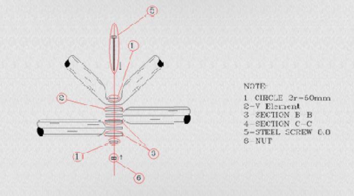 کاتروس یکی از اجرای سیستم پیونده ای در سقف های فضایی - استوارسازان