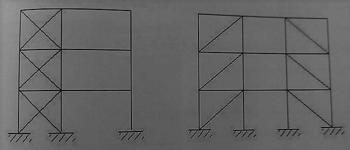 مهاربندی هم محور به صورت متناوب - ساختمان های فولادی نورد گرم - استوارسازان