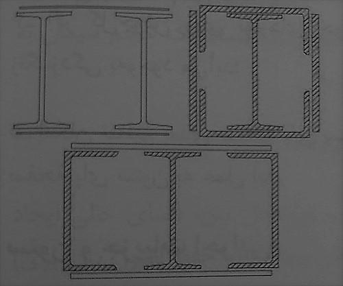مقطع مرکب ستون های فلزی - ساختمان های فولادی نورد گرم - استوارسازان