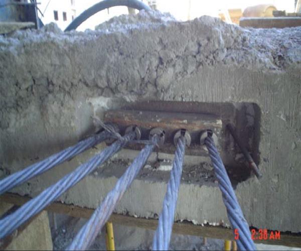 گروت تزریق شده داخل گیره - سقف پس کشیده - استوارسازان