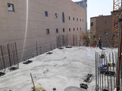 بتن ریزی سقف پس کشیده - استوارسازان