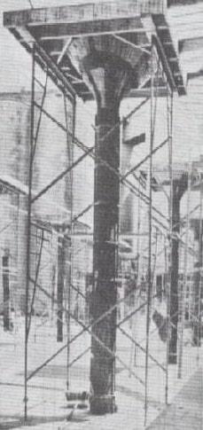 کتیبه سرستون متکی به یک زوج قاب داربستی - سقف سالید اسلب - استوارسازان