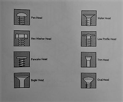 شکل انواع پیچ های اتصال - سیستم قاب فولادی سبک نورد سرد (ساختمان lsf) - استوارسازان