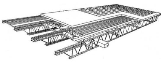 شمای عمومی سقف با روش روفیکس - سقف روفیکس - استوارسازان