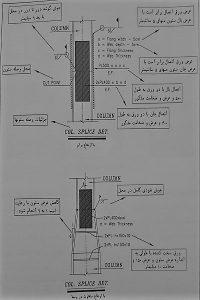 جزئیات وصله ستون ها - پلان چیدمان ستون ها و صفحه ستون ها - نقشه خوانی ستون های بتنی - استوارسازان