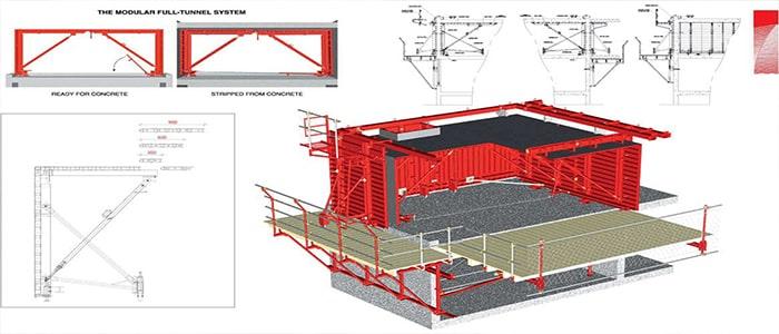 تصویر 2 سیستم بتنی قالب تونلی - استوارسازان