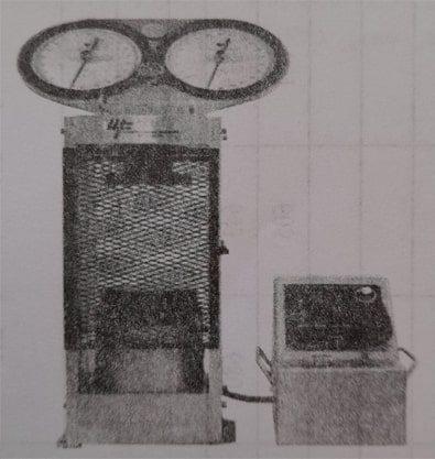 دستگاه آزمایش مقاومت فشاری تک محوری - آزمایش تعیین مقاومت فشاری تک محوری مصالح سنگی - استوارسازان